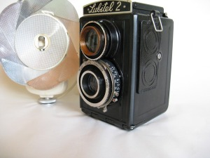 Old camera.  Smile!